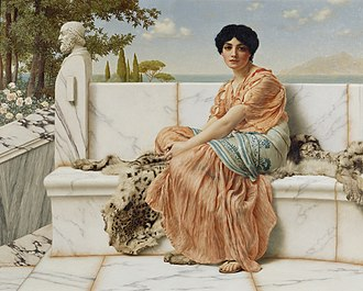 1904 in art - Image: Godward In the Days of Sappho 1904