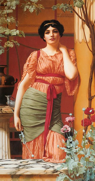 John William Godward - Nerissa (1906) by John William Godward