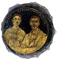 Gold-glass portrait of husband and wife (Biblioteca Apostolica Vaticana, Museo Sacro, Inv. no. 743).jpg