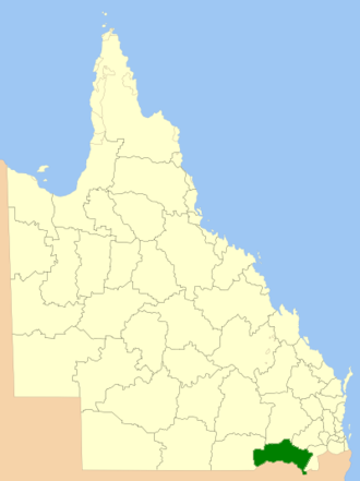 Goondiwindi Region - Location within Queensland