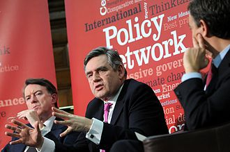 Peter Mandelson - Mandelson (left) with Gordon Brown at the Progressive Governance Conference, February 2010.