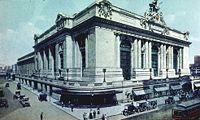February 1: New York's Grand Central building as rebuilt (c.1911).