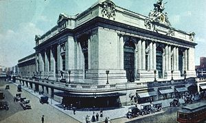 February 1: New York's Grand Central Terminal as rebuilt. Grand Central Terminal Exterior 42nd St at Park Ave New York City.jpg