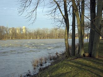 Maumee River - The river in Grand Rapids, Ohio
