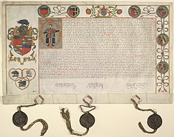 Grant of arms to Sir Nicholas Bacon (1569) - Wodehouse Papers - BL Add MS 39249.jpg