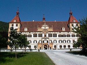 Graz: Graz Schloss Eggenberg front facade
