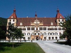 Štýrský Hradec: Graz Schloss Eggenberg front facade