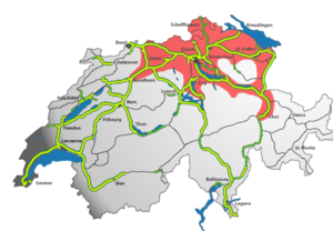 Zurich metropolitan area - Location within Switzerland