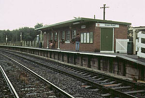 Green Road railway station - The station building at Green Road