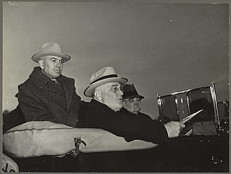 Rexford Tugwell - Tugwell and President Roosevelt inspecting the construction progress at the Greenbelt, Maryland town site, in February 1937.