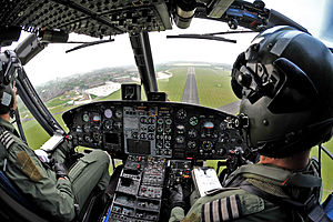 RAF Shawbury - Image: Griffin Helicopter Practices Approach to RAF Shawbury MOD 45151083