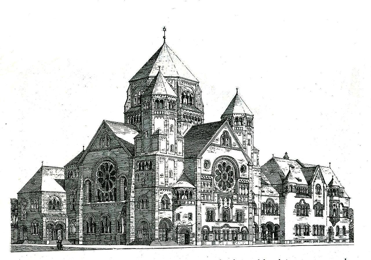 Datei Gro E Synagoge An Der Kasernenstra E In D Sseldorf