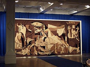 Whitechapel Gallery - The Guernica tapestry, displayed at the Whitechapel Gallery in 2009