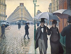 Rue de Paris, temps de pluie (1877) Gustave Caillebotte, Art Institute of Chicago