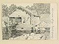 Hälsingland, Rogsta sn., Lakbäcks fiskeläge. Teckning av Ferdinand Boberg - Nordiska museet - NMA.0088250.jpg