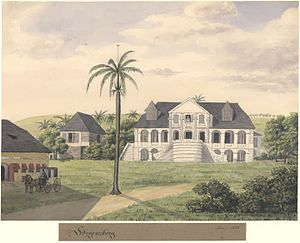 Danish colonial empire - The Høgensborg estate on St. Croix, Danish West Indies, 1833