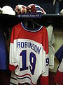 HHOF July 2010 Canadiens locker 13 (Robinson).JPG