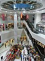 HK Chai Wan New Jade Gardens Shopping Arcade interior courtyard visitors ceiling escalators Sep-2012.JPG