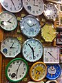 HK Sheung Wan 中源中心 Midland Plaza shop Japan Home City clocks displayed for sale April-2011.jpg