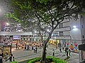HK Sheung Wan PMQ mall Hollywood Road night courtyard tree May-2014 Aberdeen Street view 002.JPG