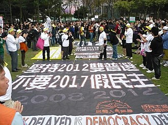 Democratic development in Hong Kong - Image: H Kmarch 1 13 2008pic 4