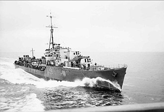 Operation Jurist - Royal Navy destroyer HMS ''Petard''
