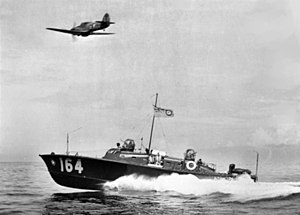 RAF Search and Rescue Force - Whaleback high speed air-sea rescue launch HSL 164 off Ceylon in 1943
