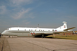 No. 201 Squadron RAF - Nimrod MR.1 of 201 Squadron exhibited at the Queen's Silver Jubilee Review at RAF Finningley in July 1977.