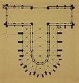 HUA-214429-Plattegrond van de Domkerk te Utrecht ter hoogte van het triforium met weergave van de gewelven.jpg
