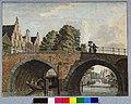 HUA-30365-Gezicht op de Jacobibrug over de Oudegracht te Utrecht uit het zuiden met op de achtergrond de Zandbrug en de Weerdpoort.jpg
