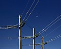 HV power lines near Mount Majura, ACT Australia.jpg