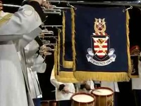 Файл:Hail to the Chief - U.S. Army Herald Trumpets.ogv