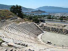 Vestigia del teatro dell'antica Alicarnasso.