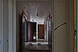 Hallway and doors in Sanatorium du Basil, Stoumont, Belgium (DSCF3558-hdr).jpg
