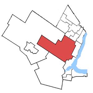 Halton (provincial electoral district) - Halton in relation to other Greater Toronto Area electoral districts