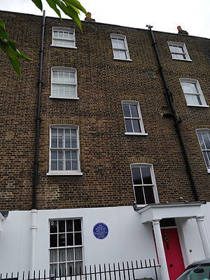 Emery Walker - 7 Hammersmith Terrace, with the blue plaque to Walker