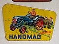 Hanomag, gelbes Werbeschild, Fahrzeugmuseum Marxzell.JPG