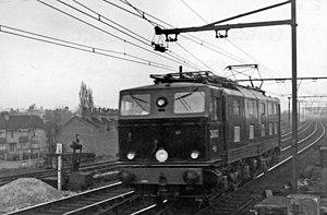 British Rail Class 76 - An EM1 under trial in Essex in 1950