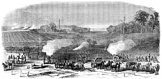 Battle of Darbytown and New Market Roads - Image: Harper's Weekly Battle of Darbytown Road October 7 1864
