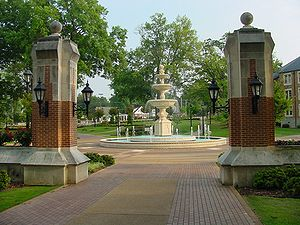 University of North Alabama -  Harrison Plaza at the University of North Alabama in Florence.  The school was chartered as LaGrange College by the Alabama Legislature in 1830.