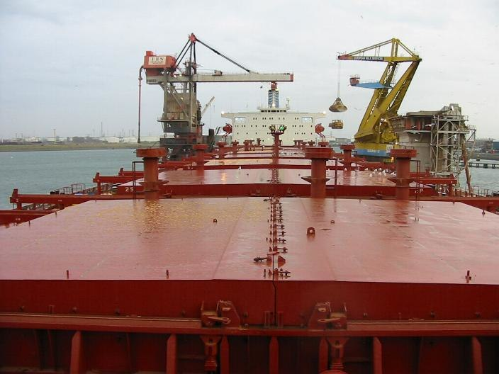 Hatch covers on bulk carrier