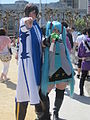 Hatsune Miku & Kaito cosplayers at 2010 NCCBF 2010-04-18 2.JPG