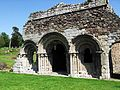 Haughmond Abbey chapter house exterior 01.JPG