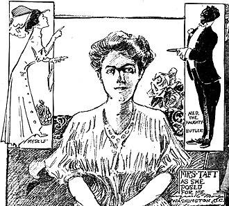 Marguerite Martyn - Image: Helen Herron Taft, Marguerite Martyn, and a butler