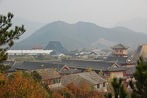 A view of Hengdian World Studios in Zhejiang, ...