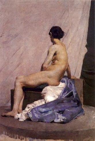 Henrique Pousão - Image: Henrique Pousao Model painting