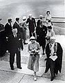 Her Majesty Queen Elizabeth II at Echo Point, Katoomba with A.F.C. Murphy, Mayor of Blue Mountains.jpg