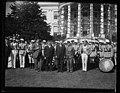 Herbert Hoover with group outside White House, Washington, D.C. LCCN2016889728.jpg