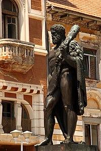 Statua di Eracle a B?ile Herculane, Romania