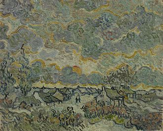Houses at Auvers - F675: Winter Landscape - Reminiscence of the North, Van Gogh Museum
